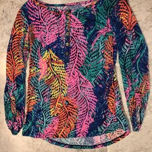 Lilly Pulitzer Multi-Colored Blouse Size XS